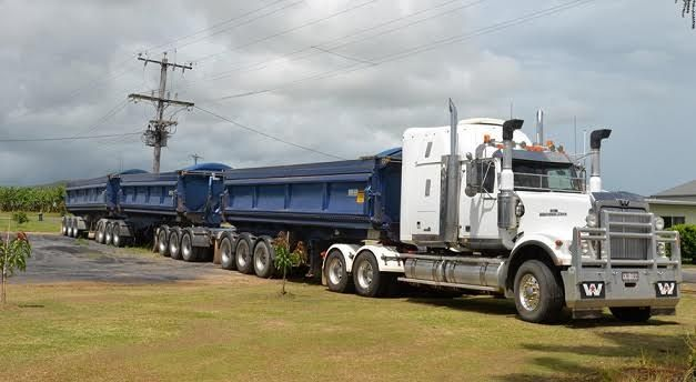Road Train - 2Up Teams - Exp in Side Tipper & Outback Dirt Roads