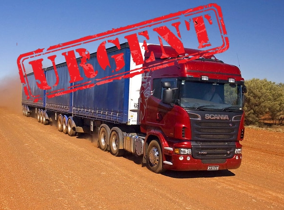 URGENT MC Driver Adelaide to Cobar leaving 4 pm TODAY  55.25ckm
